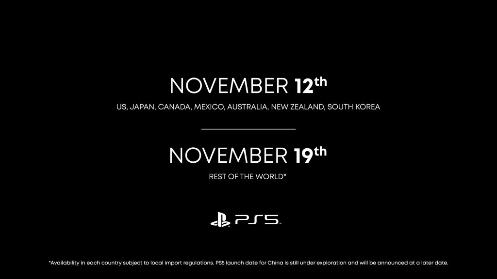 PS5 RELEASE DATE 12-11-2020